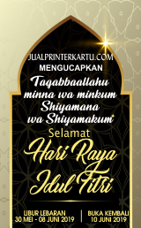 Libur Lebaran Printer kartu
